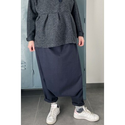 Pantaloni Harem morbidi blu...