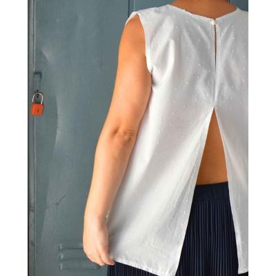 Blusa Lisa • Plumetis bianco