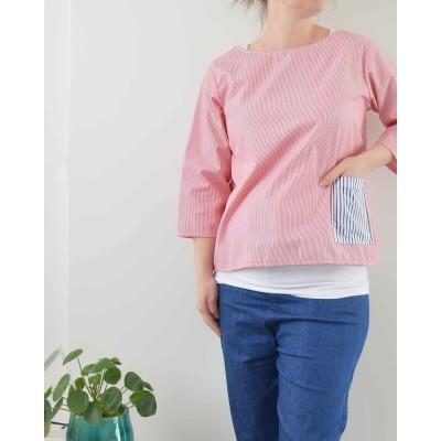 Camicia Monica • Righe rosse