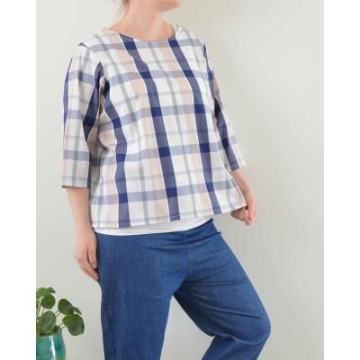 Camicia Monica • Quadro blu...